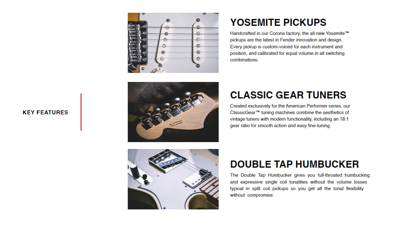 fender performer features 1