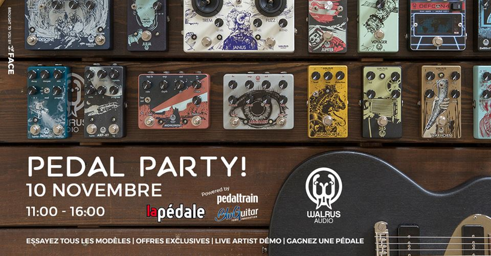 Pedal Party Walrus Audio chez La Pedale