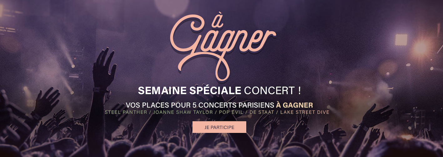 Vos invitations pour 5 concerts @Paris !