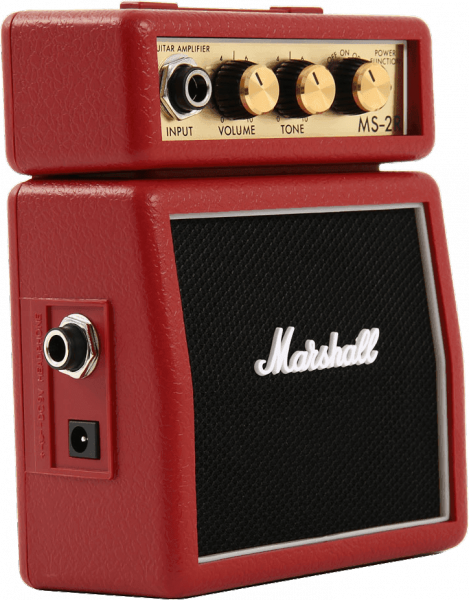 Mini ampli guitare Marshall MS-2 Red
