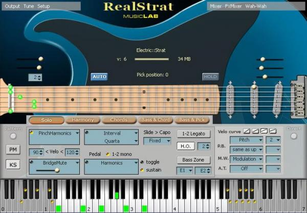 Instrument virtuel Music lab                      REALSTRAT