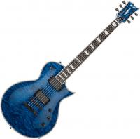 Guitare électrique solid body E-ii Eclipse QM MBL (EMG) - Marine blue