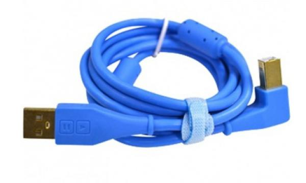 Câble Dj tech tools Chroma Cable USB  Blue (angled)