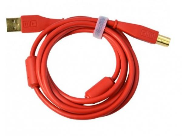 Câble Dj tech tools Chroma Cable USB Droit Red
