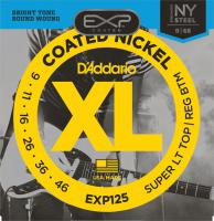 Cordes guitare électrique D'addario EXP125 Coated Nickel Round Wound 9-46 - Jeu de cordes