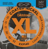 Cordes guitare électrique D'addario EXP140 Coated Nickel Round Wound 10-52 - Jeu de cordes