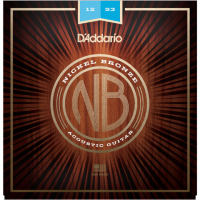 Cordes guitare folk  D'addario NB1253 Acoustic Nickel Bronze Set 12-53