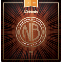 Cordes guitare folk  D'addario NB1256 Acoustic Nickel Bronze Set 12-56