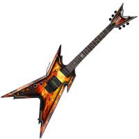 Guitare électrique solid body Dean guitars Dimebag Razorback LH - Explosion