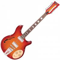Guitare électrique hollow body Italia Rimini 12 - Cherry sunburst