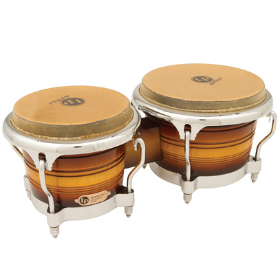 Bongo Lp Generation II Bongos LP201AX-2MSB Chrome antique sunburst