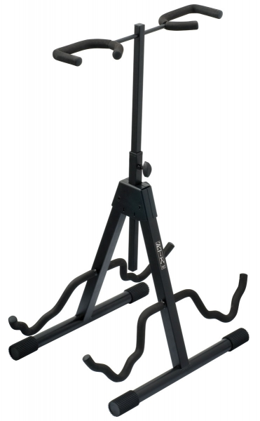 Stand & support guitare & basse Rtx G2R - 2 guitars stand