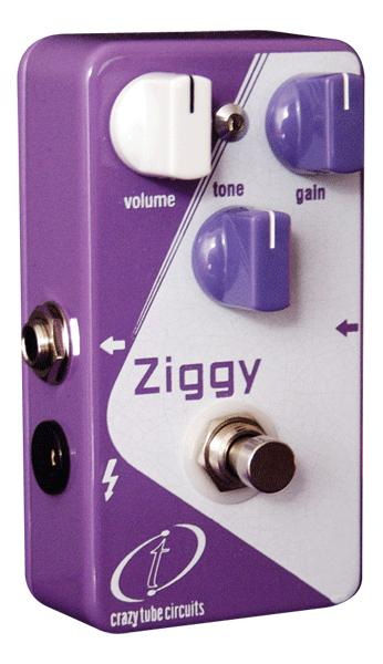 Pédale overdrive / distortion / fuzz Crazy tube circuit Ziggy