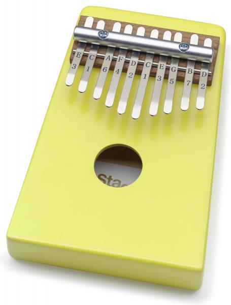 Percussions à frapper Stagg Kalimba enfant 10 notes Jaune