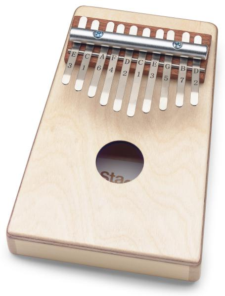 Percussions à frapper Stagg Kalimba enfant 10 notes Naturel