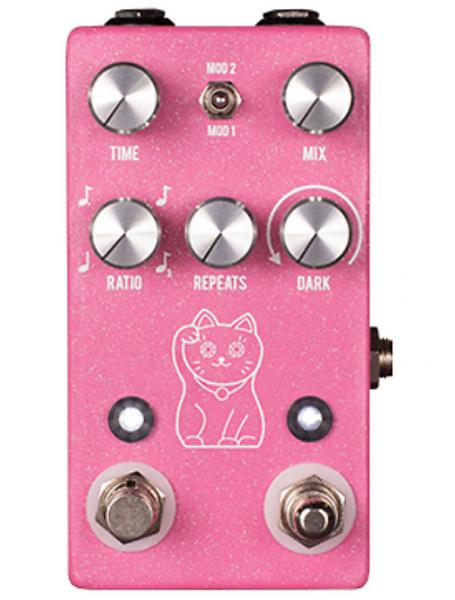 Pédale reverb / delay / echo Jhs Lucky Cat Delay - Pink