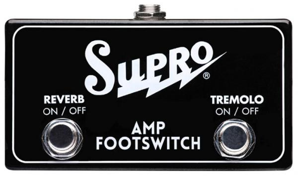 Footswitch ampli Supro SF2 Tremolo Reverb Footswitch