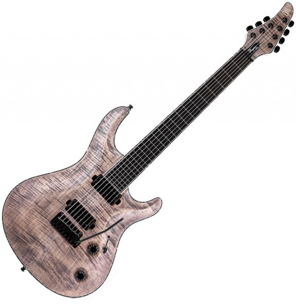 Guitare électrique solid body Mayones guitars Regius Core V24 7 (Ash, 27inch, Seymour Duncan) - Jeans black