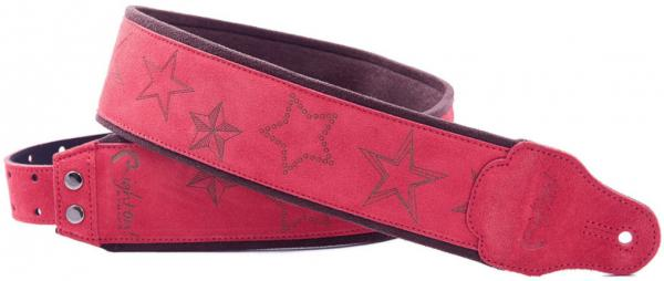 Sangle courroie Righton straps Jazz Stars Guitar Strap - Red