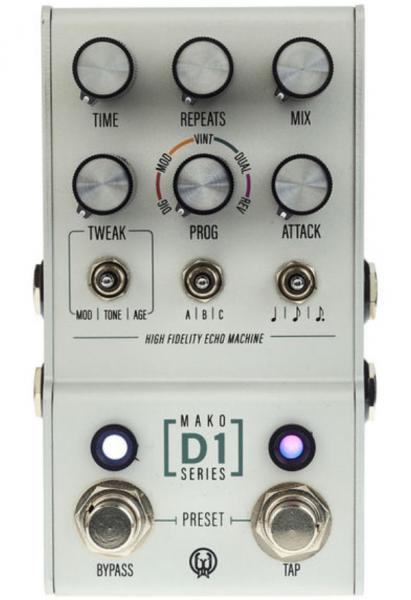Pédale reverb / delay / echo Walrus Mako Series D1 High-Fidelity Stereo Delay