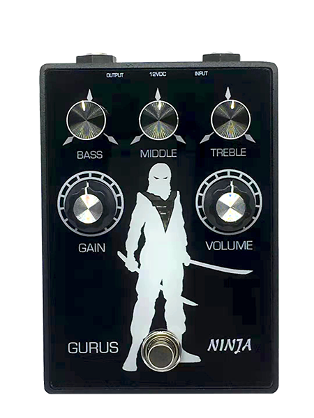 Pédale overdrive / distortion / fuzz Gurus NINJA