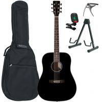 Pack guitare folk Eastone DR100-BLK +X-Tone Bag Pack - Black