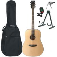 Pack guitare folk Eastone DR100-NAT +X-Tone Bag Pack - Natural satin