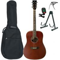 Pack guitare folk Eastone DR150-NAT + X-Tone Bag Pack - Natural satin