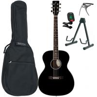 Pack guitare folk Eastone OM100-BLK +X-Tone Bag Pack - Black