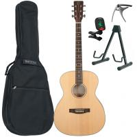 Pack guitare folk Eastone OM100-NAT +X-Tone Bag Pack - Natural satin