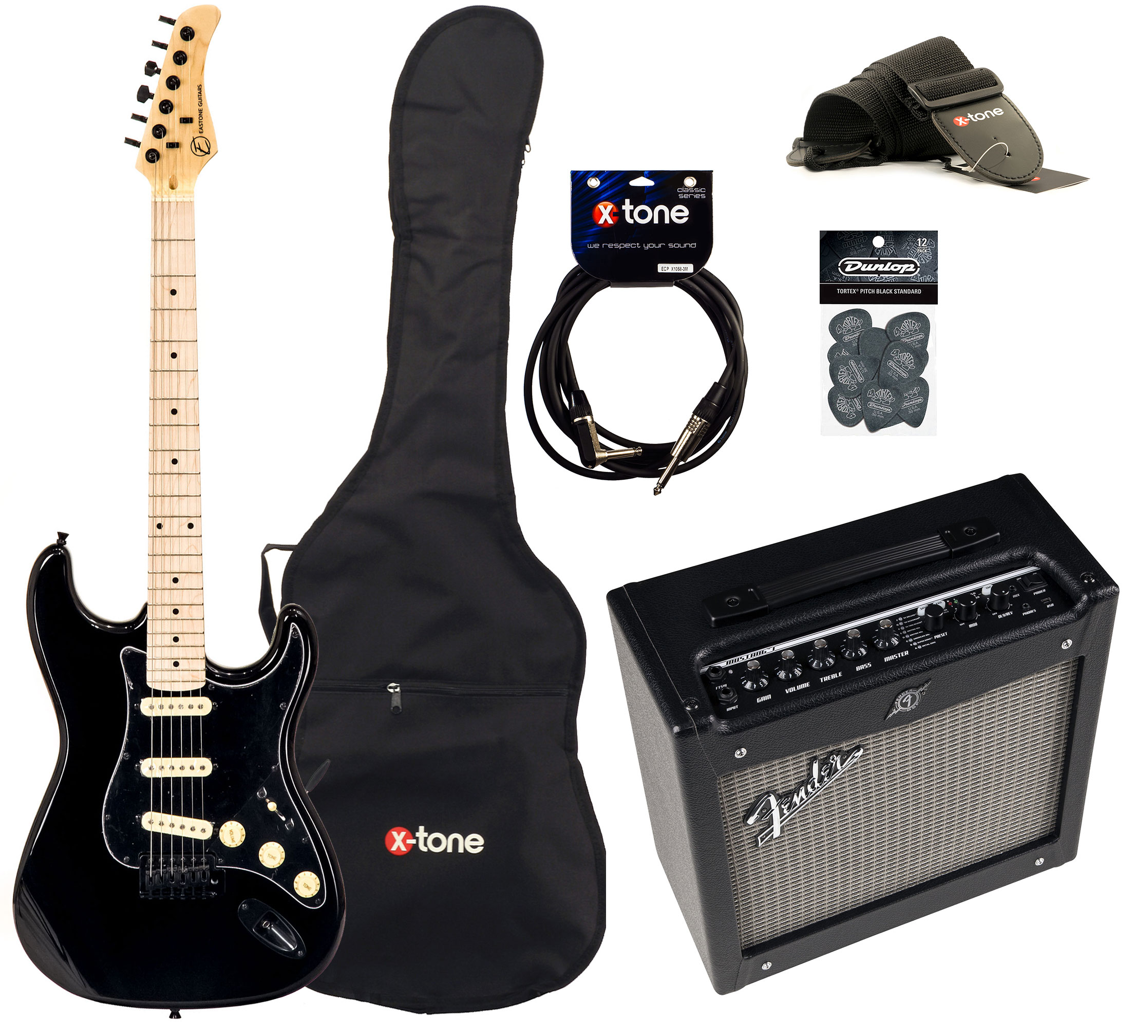 Fender Mustang 1 V2 >> Str70 Gil Fender Mustang I V2 Accessories Black