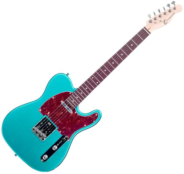 Guitare électrique solid body Eastone TL70 (PUR) - metallic light blue