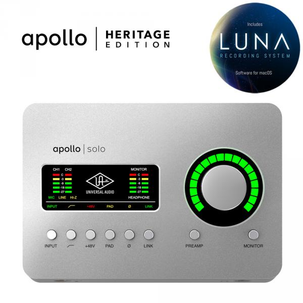 Carte son thunderbolt Universal audio Apollo Solo Heritage Edition