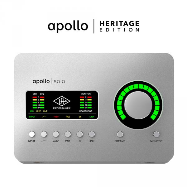 Carte son usb Universal audio Apollo Solo USB Heritage Edition