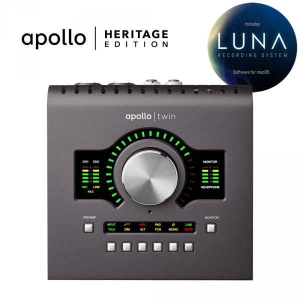 Carte son thunderbolt Universal audio Apollo Twin X Duo Heritage Edition