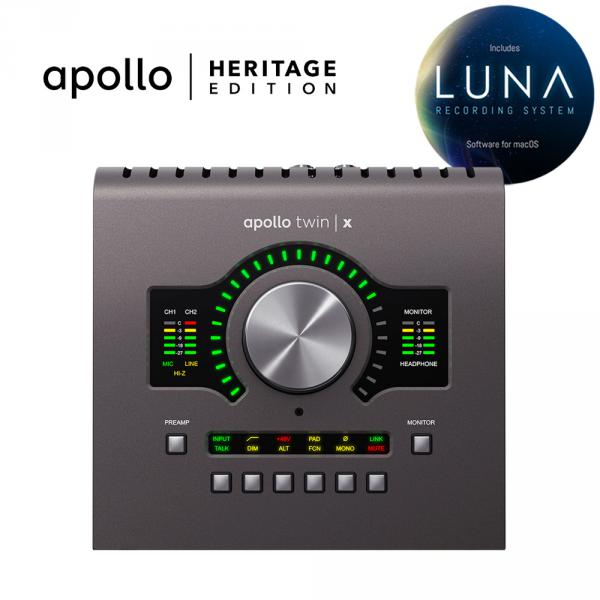 Carte son thunderbolt Universal audio Apollo Twin X Quad Heritage Edition