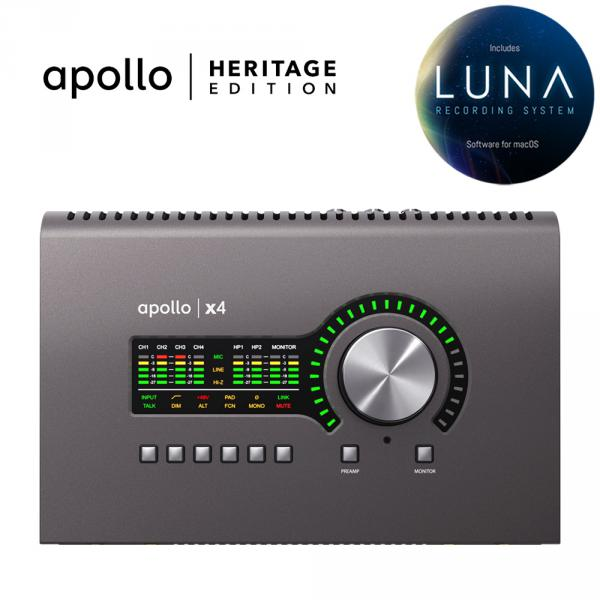 Carte son thunderbolt Universal audio Apollo X4 Heritage Edition