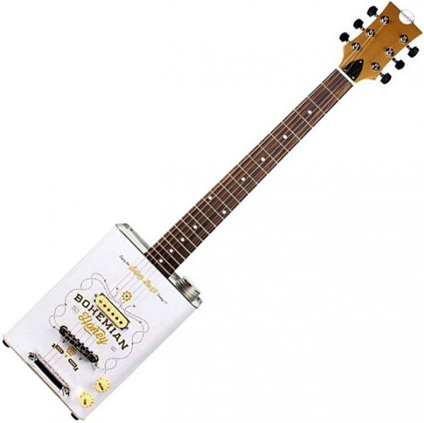 Can guitar & box guitar Bohemian Honey - Blanc