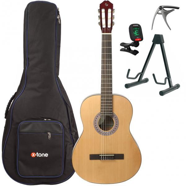 Pack guitare classique Silvanez CL44-NAT +X-Tone 2002 Bag Pack - Natural