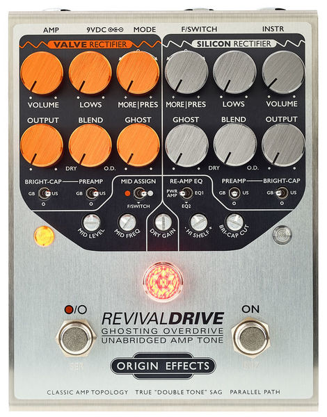Pédale overdrive / distortion / fuzz Origin effects Revival Drive Standard