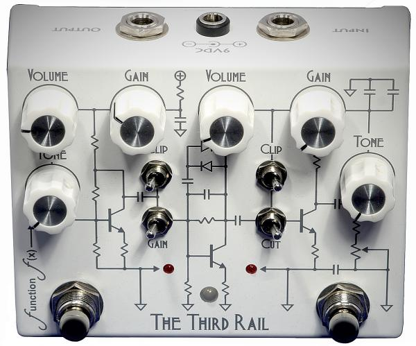Pédale overdrive / distortion / fuzz Function fx The Third Rail Overdrive