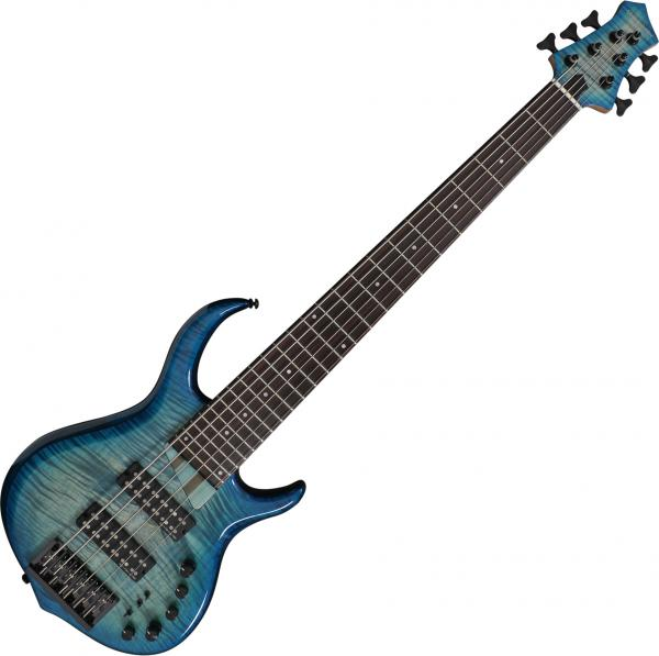 Basse électrique solid body Marcus miller M7 Alder 6ST 2nd Gen - Transparent blue