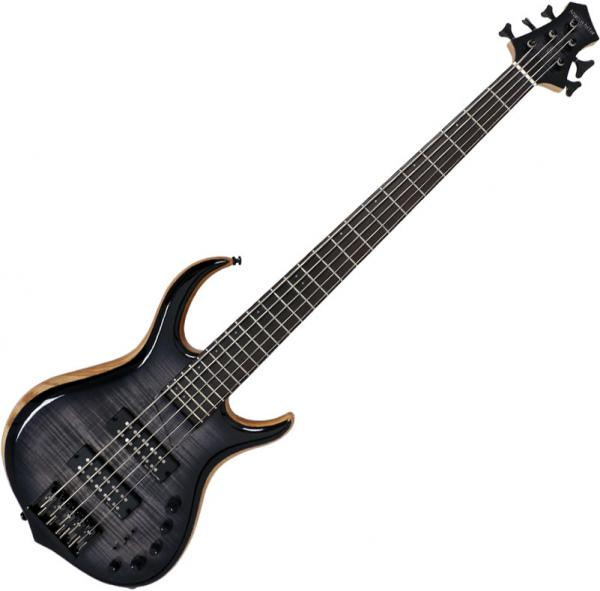 Basse électrique solid body Marcus miller M7 Swamp Ash 5ST Fretless 2nd Gen (No Bag) - Transparent black burst