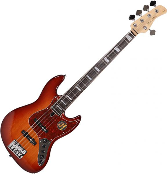 Basse électrique solid body Marcus miller V7 Alder 5ST Fretless 2nd Gen (No Bag) - Tobacco sunburst