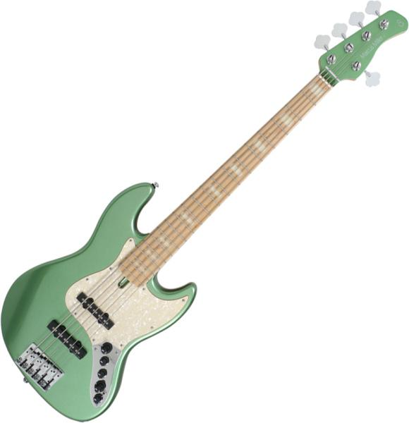 Basse électrique solid body Marcus miller V7 Swamp Ash 5ST 2nd Gen (No Bag) - Sherwood green
