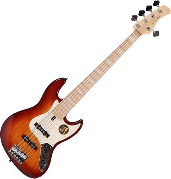 Basse électrique solid body Marcus miller V7 Swamp Ash 5ST 2nd Gen (No Bag) - Tobacco sunburst