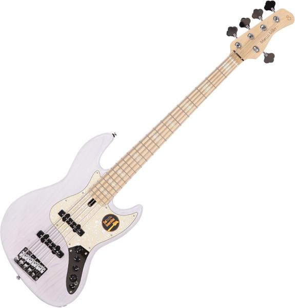 Basse électrique solid body Marcus miller V7 Swamp Ash 5ST 2nd Gen (No Bag) - White blonde