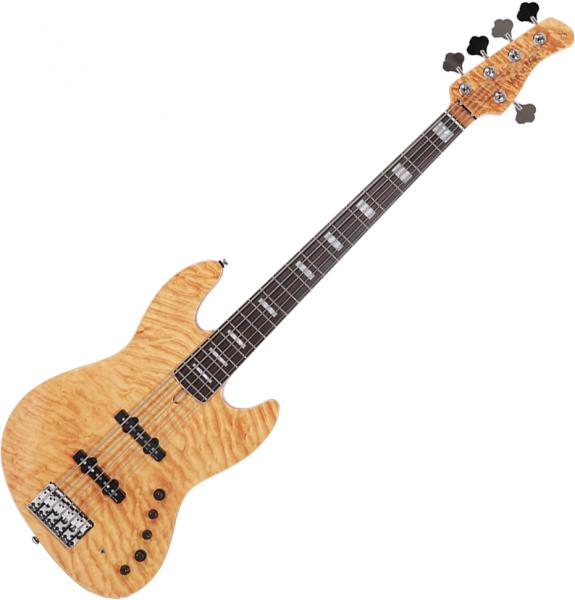 Basse électrique solid body Marcus miller V9 Swamp Ash 5ST 2nd Gen (No Bag) - Natural