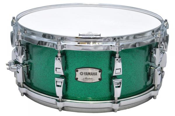 Caisse claire Yamaha Absolute Hybrid Maple AMS1460 - Jade green sparkle