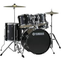 Batterie acoustique fusion Yamaha Gigmaker Standard 22 + Cymbales - 4 fûts - Black glitter